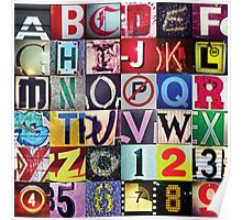 Instagram Alphabet Collection #1 Poster
