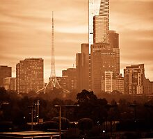 A Bright Melbourne Sunrise by Andrew Wilson