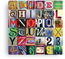 Instagram Alphabet Collection #2 Canvas Print