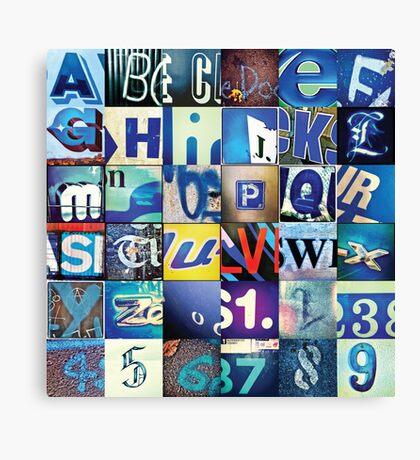 Instagram Alphabet Collection #4 Canvas Print