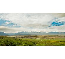 Farm and Mountains Photographic Print
