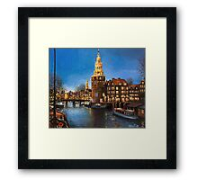 The Lights of Amsterdam Framed Print