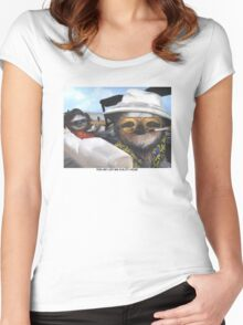 Fear and Loathing in Sloth Vegas Women's Fitted Scoop T-Shirt