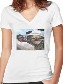 Fear and Loathing in Sloth Vegas Women's Fitted V-Neck T-Shirt