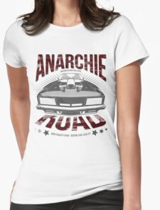 MAD MAX inpired Anarchie Road with Interceptor Design Womens Fitted T-Shirt