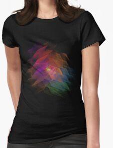 Apophysis Fractal Design - Rainbow Flower Womens Fitted T-Shirt