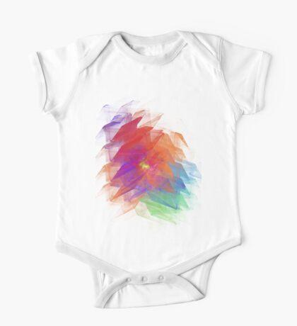 Apophysis Fractal Design - Enhanced Rainbow Flower One Piece - Short Sleeve