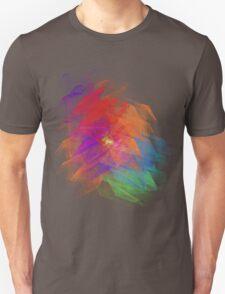 Apophysis Fractal Design - Enhanced Rainbow Flower Unisex T-Shirt