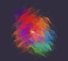 Apophysis Fractal Design - Enhanced Rainbow Flower Womens Fitted T-Shirt