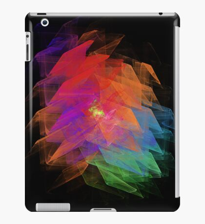Apophysis Fractal Design - Enhanced Rainbow Flower  iPad Case/Skin