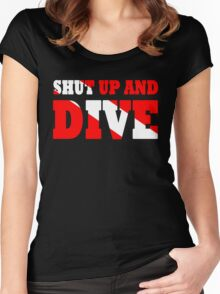 Shut up and dive Women's Fitted Scoop T-Shirt