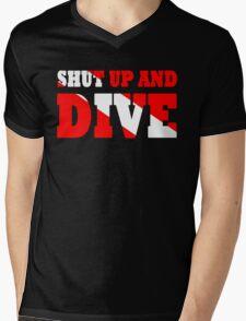Shut up and dive Mens V-Neck T-Shirt