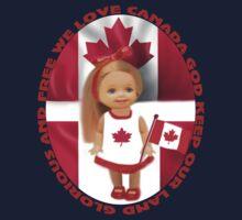 ✾◕‿◕✾ CANADIAN PATRIOTIC  GIRLS CHILDRENS TEE SHIRT ✾◕‿◕✾ One Piece - Short Sleeve