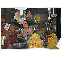 Jackfruit Vendor in the Market Poster