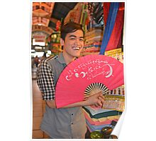 Ben Thanh Market Vendor Poster