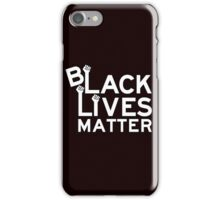 Black Lives Matter Tshirt iPhone Case/Skin