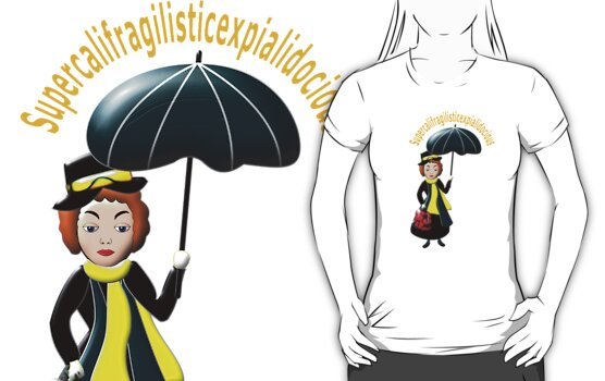 Mary Poppins T-shirt by Dennis Melling