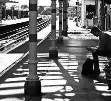 Waiting at Hove Train Station by Andrew Wilkey