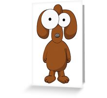 Cartoon Dog Greeting Card