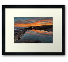 Boat Harbour Sunset. Framed Print