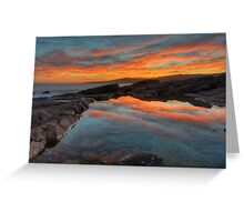 Boat Harbour Sunset. Greeting Card