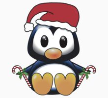 Cute Cartoon Christmas Penguin by ArtformDesigns