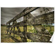 Dutch farmscape after crops Poster