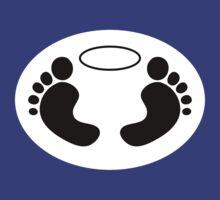 Feet 'n Halo | White bg, black feet by Lin Da
