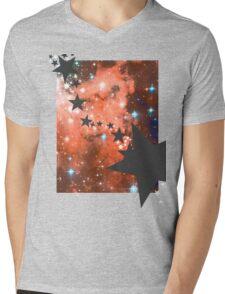Galaxy T-shirt Mens V-Neck T-Shirt