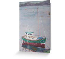 Boat at Badachro Greeting Card