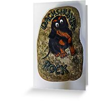 Dachshund Doorstop Greeting Card