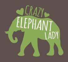 Crazy Elephant lady Baby Tee