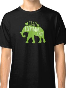 Crazy Elephant lady Classic T-Shirt