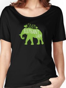 Crazy Elephant lady Women's Relaxed Fit T-Shirt