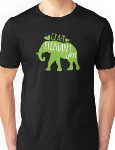 Crazy Elephant lady Unisex T-Shirt