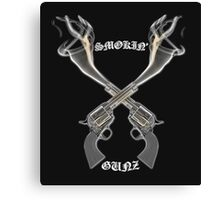 Smokin Gunz Canvas Print