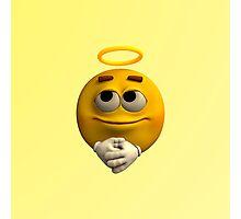 Angelic Emoticon Photographic Print