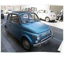 Fiat 500(s) in Italy Poster
