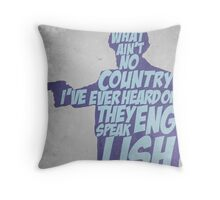 Pulp Fiction - Jules: They Speak English in What? Throw Pillow
