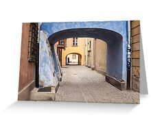 Warsaw Old Town. Greeting Card