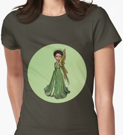 Green Fairy Womens Fitted T-Shirt