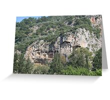 Dalyan Tombs Greeting Card
