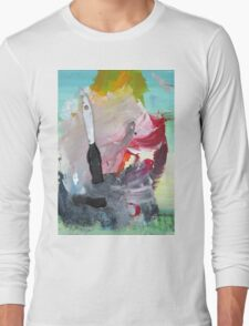 WHILE MY BRUSH GENTLY WEEPS Long Sleeve T-Shirt