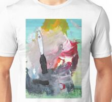 WHILE MY BRUSH GENTLY WEEPS Unisex T-Shirt