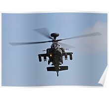 WH64 Apache Helicopter Poster