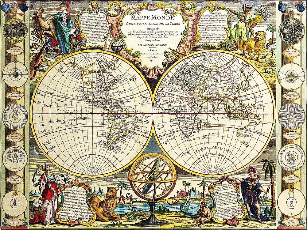 World Map 1755 by VintageLevel
