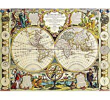 World Map 1755 Photographic Print