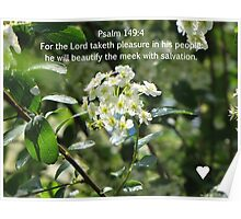 Psalm 149:4 Poster