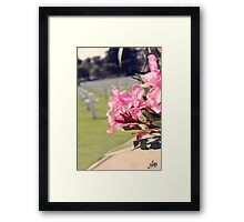 The Memory of the Heroes Framed Print