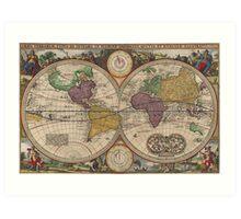 World Map 1657 Art Print